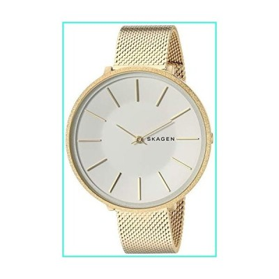 【新品】Skagen Women's Karolina Analog-Quartz Stainless-Steel-Plated Strap, Gold, 14 Casual Watch (Model: SKW2722)(並行輸入品)