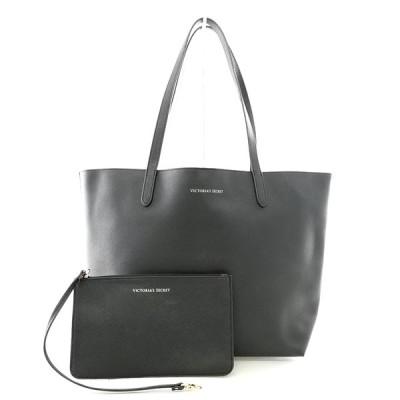 送料無料 ヴィクトリアシークレット Victoria's Secret トートバッグ ショルダーバッグ 鞄 肩掛け レザー 黒 ブラック系 レディース