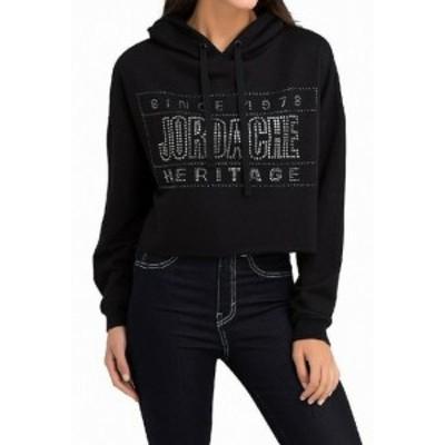 ファッション トップス Jordache NEW Black Womens Size Medium M Hooded Embellished Sweater