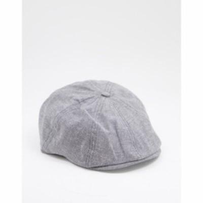ベンシャーマン Ben Sherman メンズ 帽子 キャスケット Baker Boy Cap In Grey グレー