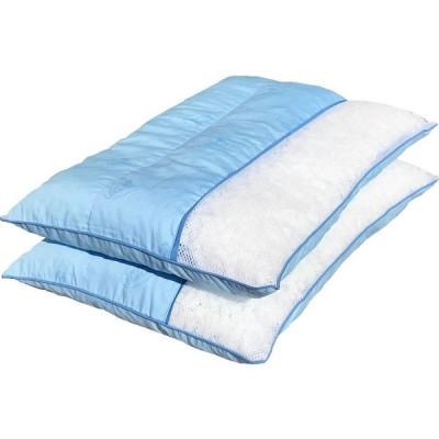 2個セット 3層型かためのハードパイプ枕 中材 約1kg 約35×50cm BL 【日本製】 【国内加工】 【パイプ】 【パイプ枕】 【高さ調整可能】