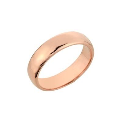 Polished 10k Rose Gold Comfort-Fit Band Classic 5mm Plain Wedding Ring