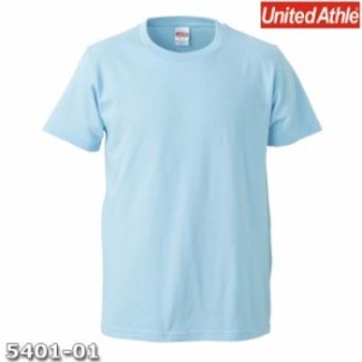 Tシャツ 半袖 メンズ レギュラーフィット 5.0oz L サイズ L ブルー 無地 ユナイテッドアスレ CAB