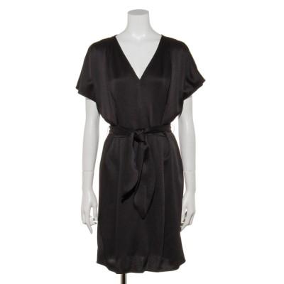 TARA JARMON (タラジャーモン) レディース サテンバタフライスリーブドレス ブラック L