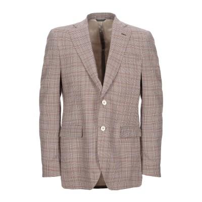 TOMBOLINI テーラードジャケット 赤茶色 50 バージンウール 100% テーラードジャケット