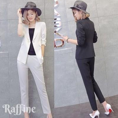 結婚式 パンツスーツ レディース パンツドレス おしゃれ セットアップ 黒 白 XS-2XL 小さいサイズ 大きいサイズ パンツ 韓国 パンツスタ