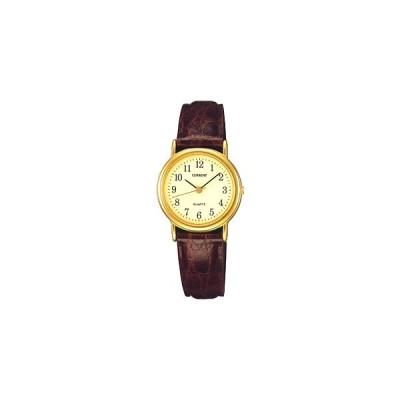 セイコー 腕時計 レディース アナログ 日常生活防水 シンプル 見やすい アラビア数字 文字盤 (SK8DC31) ブラウン 茶 レザー 合成皮革 革バンド ドレスウォッチ