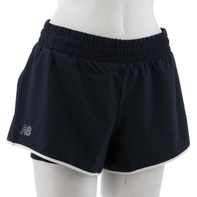 ニューバランス レディス テニス バドミントン ハーフパンツ WS01446 : ブラック New Balance