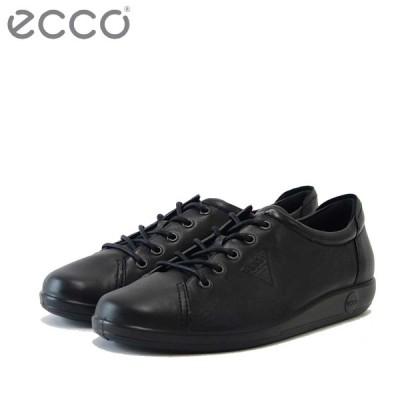エコー ECCO SOFT 2.0 ブラック 206503 (レディース) 快適な履き心地のレースアップシューズ