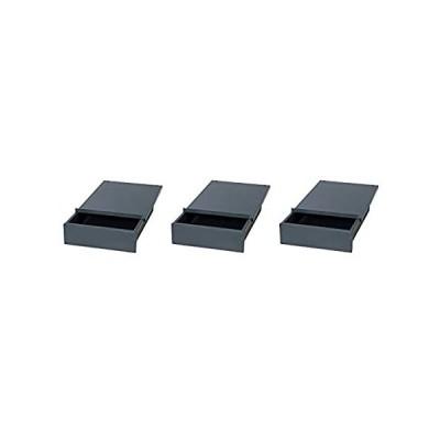 "EDSAL WD1218 Industrial Gray Steel Bench Drawer, 4"" Height x 12"" Width x 18"