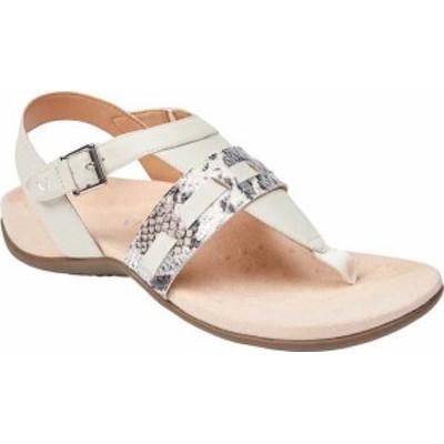 バイオニック レディース サンダル シューズ Women's Vionic Lupe Thong Sandal Cream Boa Metallic Leather