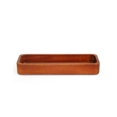 かのりゅう  木製スタッキングカトラリー/トレー ブラウン