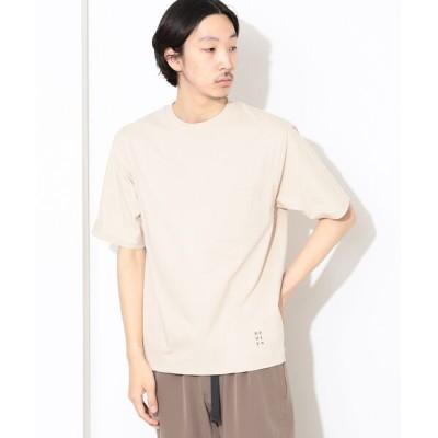 BEAMS MEN / BEAMS LIGHTS / SHELTECH(R) ワンポイントロゴ Tシャツ MEN トップス > Tシャツ/カットソー