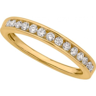 メイシーズ Macy's レディース 指輪・リング Certified Diamond Channel Band 1/4 ct. t.w. in 14k White or Yellow Gold Yellow Gold