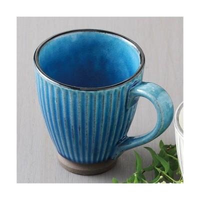 和食器 優雅な時間 ペアマグカップ 黒土化粧しのぎマグ(トルコ) 美濃焼 8.7cm
