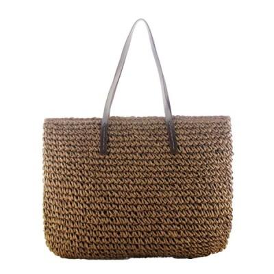 Cheng-store 女性バッグ夏のかわいい編集ビーチバッグ 新しいレジャーファッションハンドメイドストローバッグ