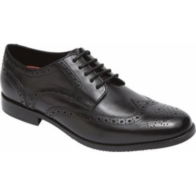ロックポート メンズ ドレスシューズ シューズ Style Purpose Wing Tip Oxford Black Full Grain Leather