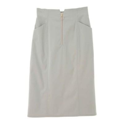 スカート フロントファスナータイトスカート