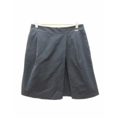 【中古】アクアガール aquagirl スカート 台形 ひざ丈 38 紺 ネイビー /KB レディース