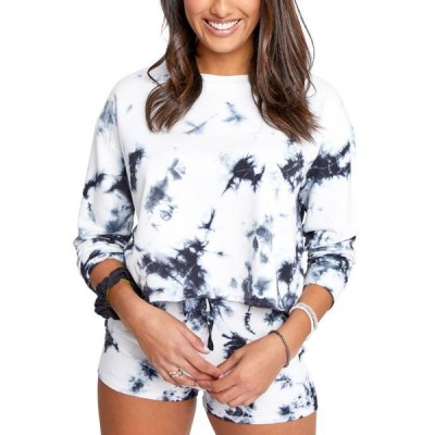 スプレンディット レディース シャツ トップス Juniors' Charli Tie-Dyed Sweatshirt