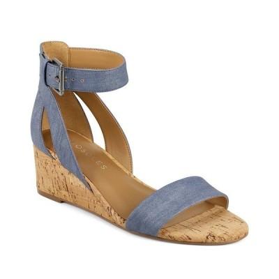エアロソールズ サンダル シューズ レディース Willowbrook Wedge Sandals Mid Blue