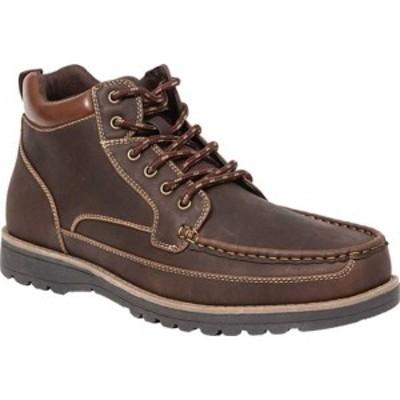 ディアースタッグス メンズ ブーツ&レインブーツ シューズ Callow Moc Toe Boot Dark Brown Simulated Leather