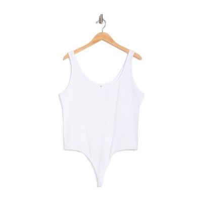 ビーピー レディース カットソー トップス Double Scoop Bodysuit WHITE