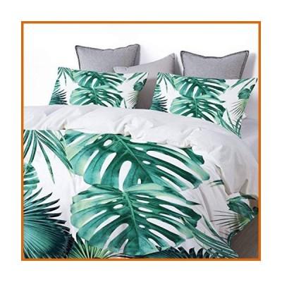 送料無料 GUTYHRMER Tropical Summer Leaves Jungle Pattern 1 Tropical Decor Art Duvet Cover Set with Zipper Closure Pillowcase Aesthetic R