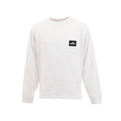【最大15%還元】 マウンテンスミス(MOUNTAINSMITH) EMBRO クルーネック長袖Tシャツ MS0-000-200026 WHT (メンズ)