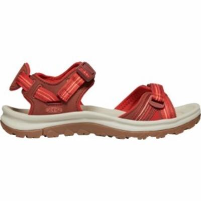 キーン Keen レディース サンダル・ミュール オープントゥ シューズ・靴 KEEN Terradora II Open Toe Sandals Dark Red/Coral