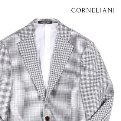 CORNELIANI(コルネリアーニ) ジャケット FK6268 ホワイト x ブラウン 44 【A18757】