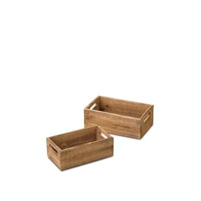 ウッドボックス セット2 シダーウッド S:W25×D14×H9cm L:W28×D18×H10cm【お取り寄せ】【郵便NG】