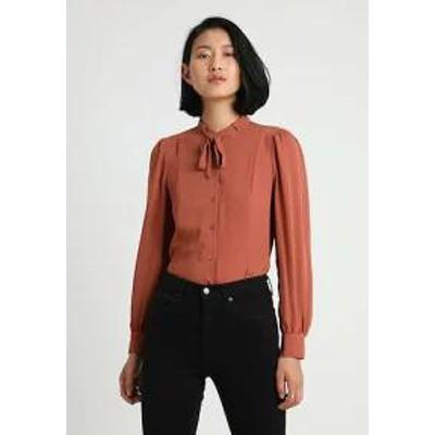 mint&berry レディースシャツ mint&berry Button-down blouse - copper?