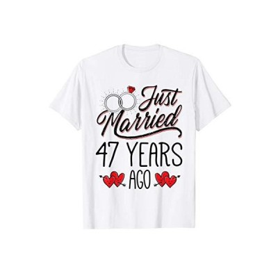 Just Married 47 Years Ago Funny Couple 47th Anniversary Gift Tシャツ