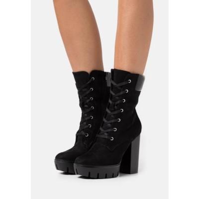 レディース ブーツ High heeled ankle boots - black