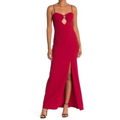ベベ レディース ワンピース トップス Scuba Crepe Long Dress RED