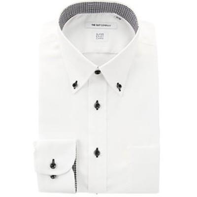【SUPER EASY CARE】ボタンダウンカラードレスシャツ 織柄〔EC・FIT〕