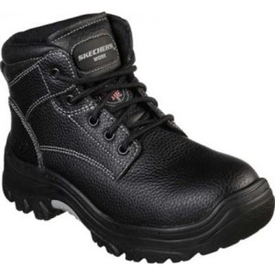 スケッチャーズ Skechers レディース ブーツ ワークブーツ シューズ・靴 Work Burgin Krabok Steel Toe Boot Black