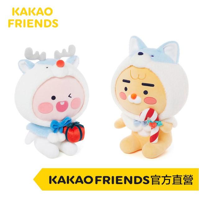 KAKAO FRIENDS White Christmas 聖誕節限定 魯道夫萊恩、桃子 交換禮物/聖誕禮物