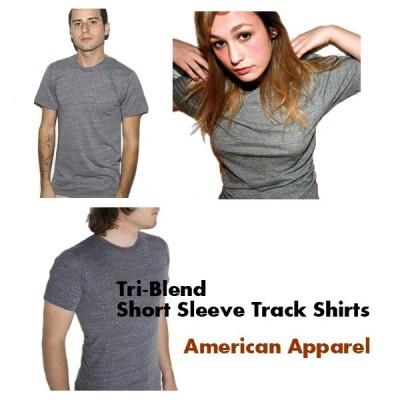【処分品】トライブレンド トラックTシャツ American Apparel アメリカンアパレル  3.7oz薄手半袖ショートスリーブ ユニセックス・男女兼用 TR401