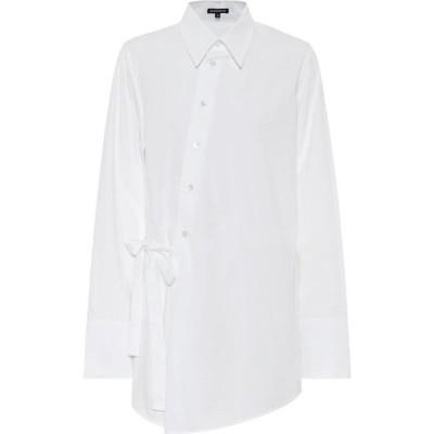 アンドゥムルメステール Ann Demeulemeester レディース ブラウス・シャツ トップス cotton poplin shirt White