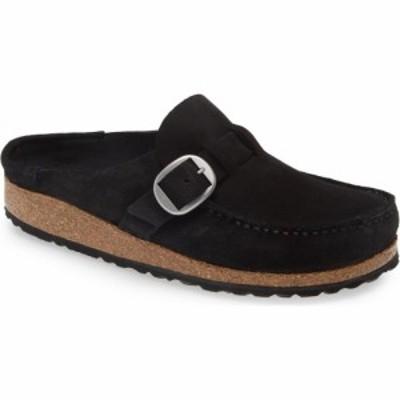 ビルケンシュトック BIRKENSTOCK レディース クロッグ シューズ・靴 Buckley Clog Dark Black Suede