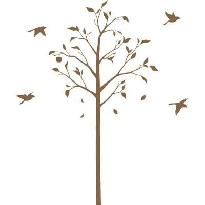 東京ステッカー ウォールステッカー 大判 転写 植物 林檎の木と小鳥/BR/S  TSー0051ーCS (直送品)