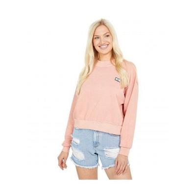 Billabong ビラボン レディース 女性用 ファッション パーカー スウェット Lets Chill Crew Sweatshirt - Washed Coral
