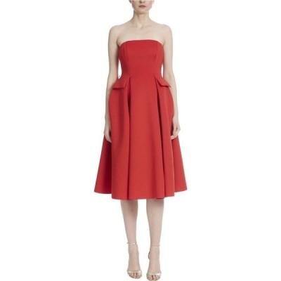 バッジェリー ミシュカ Badgley Mischka レディース ワンピース ワンピース・ドレス Strapless Scuba Runway Dress with Belt Bright Siam