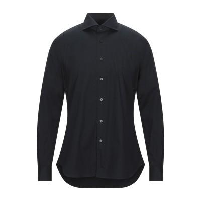 XACUS シャツ ブラック 45 コットン 100% シャツ