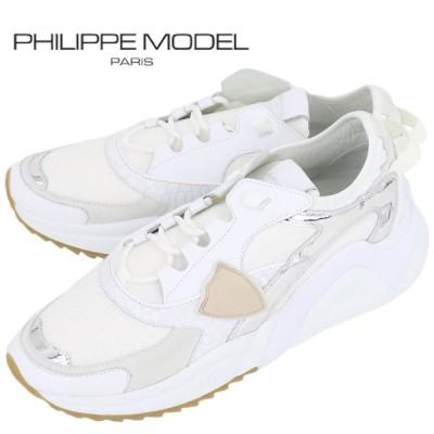 フィリップモデル PHILIPPE MODEL PARIS メンズ   スニーカー EZLU WC05 EZE MONDIAL CROCO 0115-EZEWC(ホワイト×シルバー)