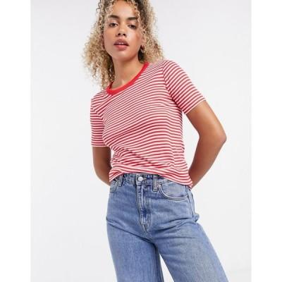 アンドアザーストーリーズ レディース Tシャツ トップス & Other Stories stripe t-shirt in red Red stripe