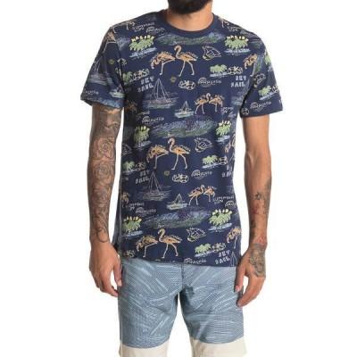 ソベリアンコード メンズ Tシャツ トップス Beach Bud Tee NAVY