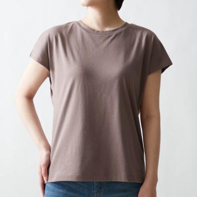 サラリスト さっと乾くカップ付きTシャツ(ブラトップ) モカブラウン S M L LL 3L